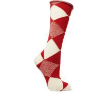 Socken Aus Wolle Mit Argylemuster -