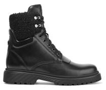 Patty Ankle Boots aus Leder mit Shearling-besatz -