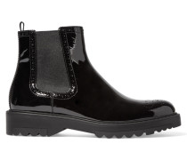 Chelsea Boots Aus Lackleder -
