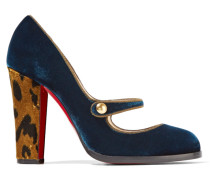 Top Street 100 Mary-jane-pumps Aus Samt -