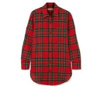Hemd aus Wollflanell mit Tartan-muster -