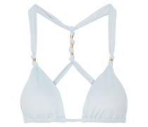 Ice Paula Bikini-oberteil Aus Velourslederimitat Mit Knotendetails -