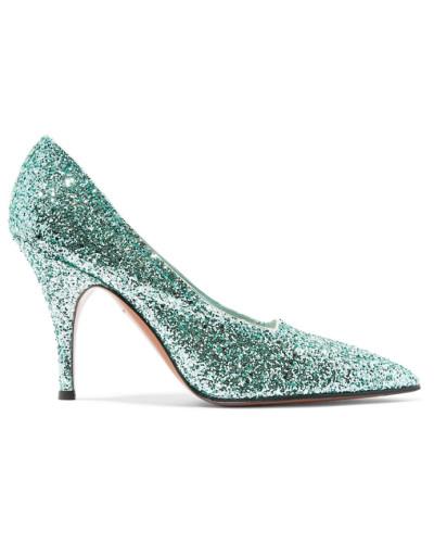 Victoria Beckham Damen Dorothy Pumps aus Canvas mit Glitter-finish