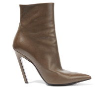 Ankle Boots Aus Leder - Braun