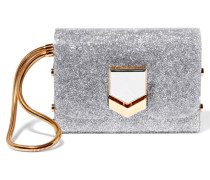 Lockett Clutch Aus Acryl In Glitteroptik - Silber