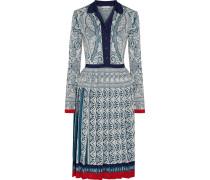 Briscola Kleid Aus Metallic-jacquard-strick Mit Falten -