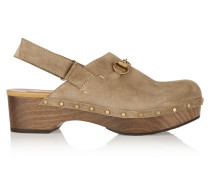 Clogs Aus Veloursleder Mit Horsebit-detail -