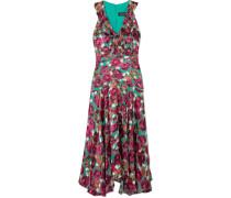 Rita Kleid Aus Devoré-samt Mit Rüschen -