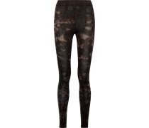Leggings Aus Jersey Aus Einer Stretch-baumwollmischung Mit Batikmuster -