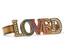Love Brünierte farbene Handspange Mit Kristallen