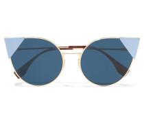 Lei Goldfarbene Cat-eye-sonnenbrille - Blau