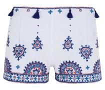 Nisa Bestickte Shorts Aus Baumwolle -