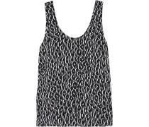 Kaylen Tanktop Aus Vorgewaschener Seide Mit Leopardenprint - Leoparden-Print