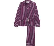 New Classic Gestreifter Pyjama Aus Jersey Aus Einer Baumwollmischung -