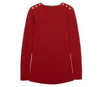 Pullover Aus Einer Woll-seidenmischung Mit Zierknöpfen -