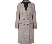 Preston Doppelreihiger Mantel Aus Einer Karierten Woll-baumwollmischung -