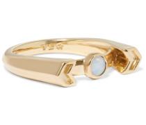 Chevron Reveal Ring Aus Gold Mit Opal