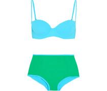 Zweifarbiger Bikini -