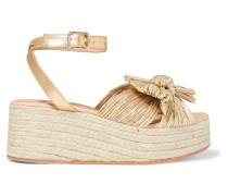 Posey Espadrille-sandalen aus Plissiertem Lamé