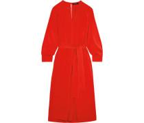 Dayna Kleid Aus Einer Seidenmischung - Rot