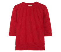 Pullover Aus Einer Gerippten Woll-kaschmirmischung -