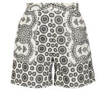 Cleary Shorts Aus Baumwolle Mit Lochstickerei -