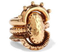 Lyzbeth Set Aus Drei Goldfarbenen Ringen