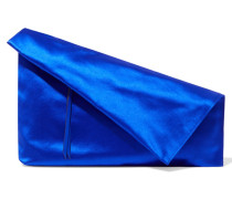 Clutch Aus Satin - Blau