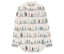 Essential Bedrucktes Hemd Aus Vorgewaschener Seide -