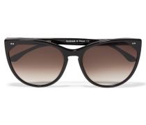 Swappy Sonnenbrille Mit Cat-eye-rahmen Aus Azetat - Schwarz