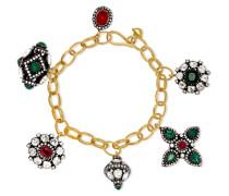 Armband aus 18 Karat  und Sterlingsilber mit Mehreren Steinen