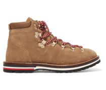 Blanche Ankle Boots aus Veloursleder mit Glitter-finish und Shearling-futter -