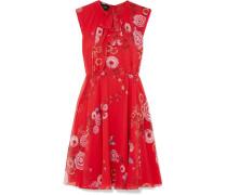 Minikleid aus Seiden-georgette mit Floralem Print -