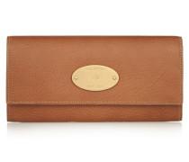 Portemonnaie Im Europäischen Stil Aus Strukturiertem Leder - Hellbraun
