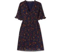 Fresia Kleid aus Bedrucktem Chiffon mit Rüschen -