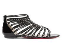 Millaclou Nietenbesetzte Sandalen Aus Lackleder - Schwarz