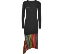 Asymmetrisches Rippstrickkleid Mit Cut-out Und Streifen -