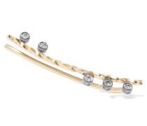 Colette Noir Ear Cuff Aus 14 Karat  Mit Rhodiumauflage Und Diamanten