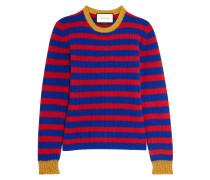 Gestreifter Pullover Aus Einer Kaschmir-wollmischung - Rot