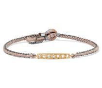 Silberfarbenes Armband Mit 14 Karat  Und Diamanten