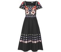 Sylvie Besticktes Kleid Aus Einer Baumwollseidenmischung - Schwarz