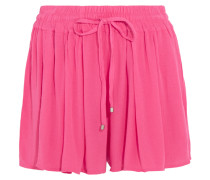Shorts Aus Gaze In Knitteroptik - Pink