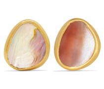 Ohrringe aus 18 Karat  mit Muschelscheiben