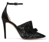 Temple 100 Pumps Aus Samt Mit Glitter-finish Und Satin -