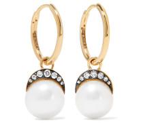 Mala Ohrringe Aus 18 Karat  Mit Diamanten Und Perlen