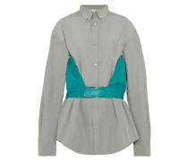 Hemd Aus Popeline Aus Einer Baumwollmischung Und Leder -