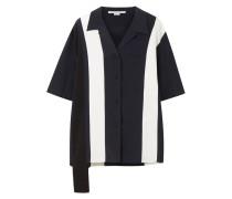 Asymmetrisches Seidenhemd Mit Streifen -