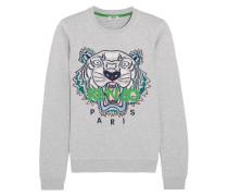 Icon Besticktes Sweatshirt Aus Baumwoll-jersey - Hellgrau