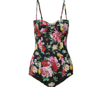 Floral Bedruckter Balconette-badeanzug -