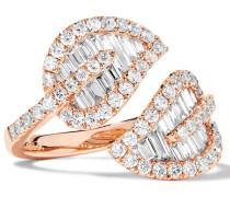 Leaf Ring aus 18 Karat  mit Diamanten